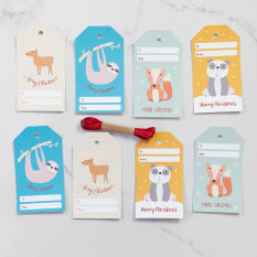 Love Letters Stationery Cute Animal Christmas Tags, Pack of 8
