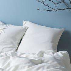 Linen House Nimes White Continental Pillowcase, 80cm x 80cm