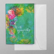 Sweet William With Sympathy Greeting Card