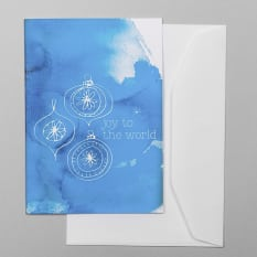 Sweet William Blue Joy To The World Greeting Card