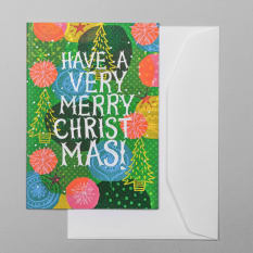Sweet William Have A Very Merry Christmas Greeting Card