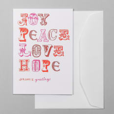 Sweet William Joy Peace Love Hope Greeting Card