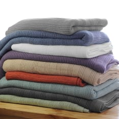 Linen Drawer Horizon Pure Cotton Throw