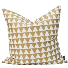 Zana Gold Triangle Continental Cushion Cover, 60cm x 60cm
