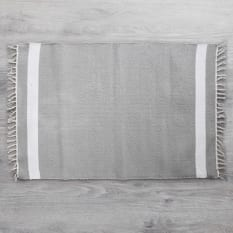 Amelia Jackson Dhurrie Bath Mat with Stripe