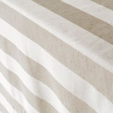 Balducci Rectangular Natural Earth Collection Stripe Tablecloth