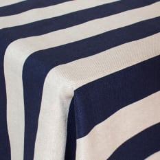 DSA Table Linen Specialists Rectangular Earth Stone V Stripe Tablecloth