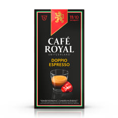 Cafe Royal Doppio Espresso Extra Strong Edition Coffee Capsules, Pack of 10