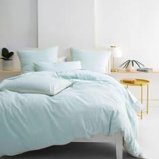 Linen House Cora 144 Thread Count Duvet Cover Set, Aqua