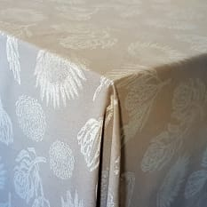 DSA Table Linen Specialists Seattle Protea Round Tablecloth