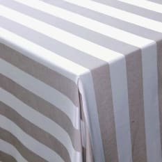 DSA Table Linen Specialists Seattle Striped Round Tablecloth