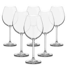 Bohemia Crystal Bistro Burgundy Glasses, Set of 6
