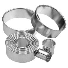 KitchenCraft Assorted Round Plain Cutters, Set of 11
