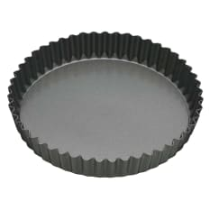 MasterClass Non-Stick Fluted Loose Base Round Quiche Tin