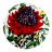 Maxwell & Williams Euphemia Henderson Ceramic Coaster, Set of 6, warratah