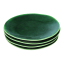 Mervyn Gers Glazed Stoneware Side Plates, Set of 4 Fig Green