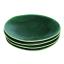 Mervyn Gers Glazed Stoneware Dinner Plates, Set of 4 Fig Green