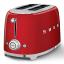 Smeg Retro 950W 2 Slice Toaster, Red