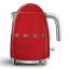 Smeg Retro Cordless Kettle, 1.7L, Red