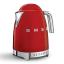 Smeg Retro Variable Temperature Cordless Kettle, 1.7L Red