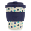 Ecoffee Cup Bamboo Travel Mug, 250ml Blue Polka