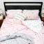 Humble Saffa 100% Cotton Pink Forest Percale Duvet Cover Set single