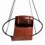 Studio Stirling Sling Debossed Leather Hanging Chair, Sling Leaves