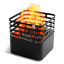 Hoefats Cube Fire Basket with fire