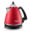 DeLonghi Argento Cordless Kettle, Red