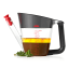 OXO Good Grips Fat Separator Jug, 1L in use