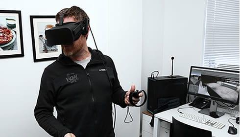 Noel Ross-Gillespie demoing Yuppiechef VR Store