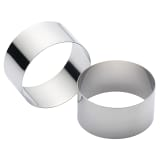 Kitchen Craft Stainless Steel Cooking/Stack Rings, Set of 2