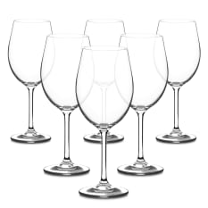 Bohemia Crystal Bistro Bordeaux Wine Glasses, Set of 6