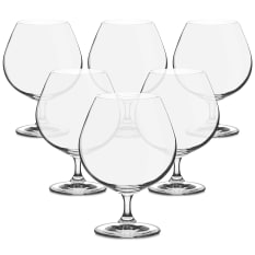 Bohemia Crystal Bistro Cognac & Brandy Glasses, Set of 6
