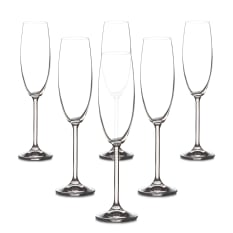 Bohemia Crystal Forum Champagne Flutes, Set of 6