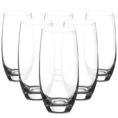 Bohemia Crystal Club Tall Drinking Glasses, Set of 6