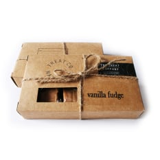 The Treat Company Luxury Naturals Post Boxed Vanilla Fudge, Pack of 6