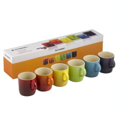 Le Creuset Rainbow Collection Espresso Mugs, Set of 6