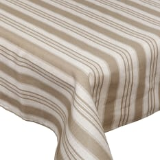 Balducci Earth Stone Ticking Stripe Tablecloth, 8 Seater