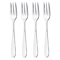 MasterClass Stainless Steel Cake Fork, Set of 4