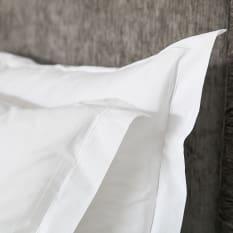 Linen Drawer Satin Stitch Cotton Pillowcases, Set of 2