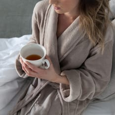 Linen House Women's Fleece Bathrobe