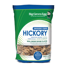 Big Green Egg Premium Kiln Dried Hickory Wood Chips, 1kg