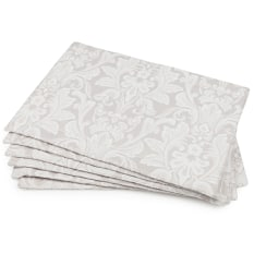 DSA Table Linen Specialists Stone Palace Damask Placemats, Set of 6