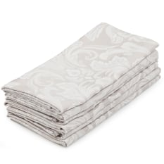 DSA Table Linen Specialists Stone Palace Damask Napkins, Set of 6