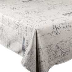 DSA Table Linen Specialists French Script Rectangular Tablecloth