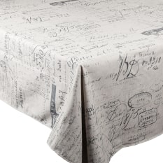 DSA Table Linen Specialists Rectangular French Script Tablecloth