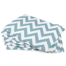 DSA Table Linen Specialists Chevron Placemats, Set of 6