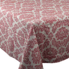 Balducci Earth Stone Damask Tablecloth, 8 Seater