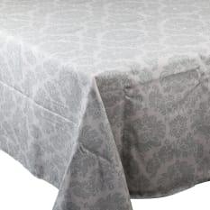 Balducci Earth Stone Damask Tablecloth, 8 Seater